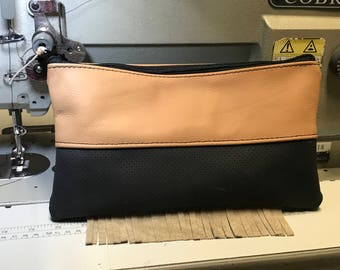 Leather hand purse