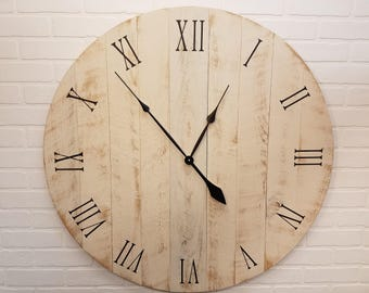 "36"" Large Rustic Wall Clock"