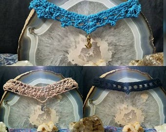 Choker Necklaces Crocheted ~Donations from Awakened Fairy~