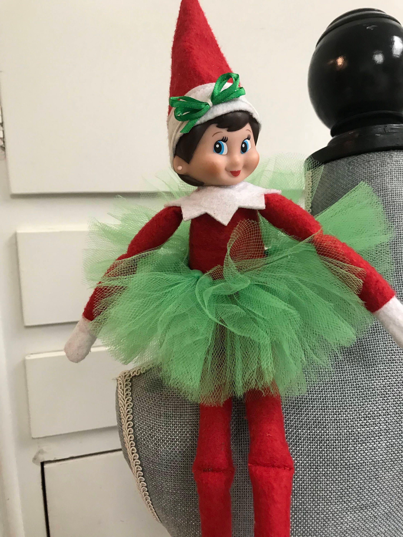 Elf on the shelf tutu set girl elf elf the shelf