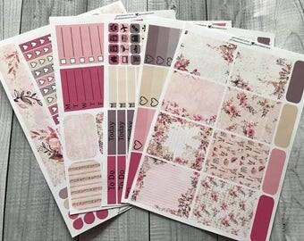 Paris Love Weekly Planner Kit - Planner Stickers - Erin Condren, Happy Planner, Plum Paper, Recollections, Kikki K