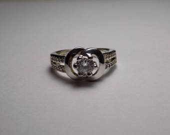 Sterling silver cz ring size 7.5