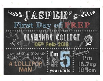 First / Last Day of School Sign - Chalkboard Sign