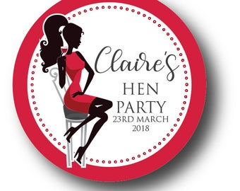 12 Hen Party Stickers