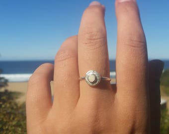 Coober Pedy Opal River Stone Ring