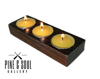 Exotic Macassar Ebony Tealight Holder