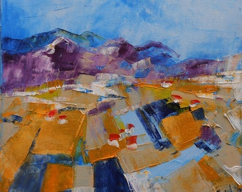 """Painting """"Fields in the feet of Alpilles"""""""