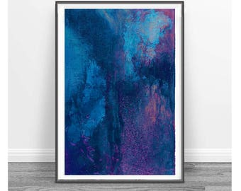 Navy Blue Abstract,  Printable Art, Art Poster, Digital Download, Wall Decor, navy blue and pink, modern abstract,