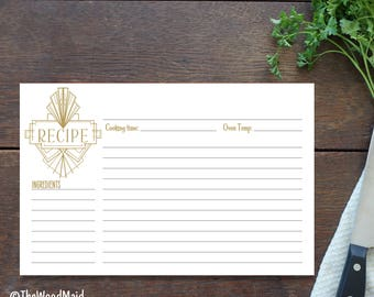 Retro Bridal Recipe Card Bridal Shower Recipe Gift, Wedding Present for the Bride, Custom Recipe Card 4x6 Printed or Digital file