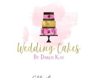 Wedding Cake logo, cake logo, premade logo