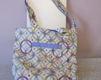 Tote Bag with Pockets and Magnetic Snap