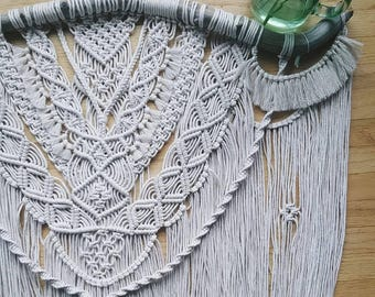 lily of the valley ~ macramé wall hanging