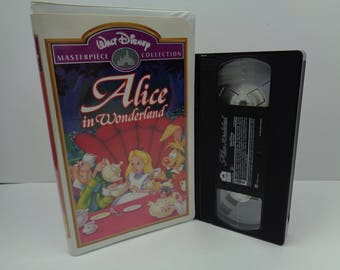 Disney Alice In Wonderland VHS