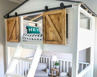 Barn door headboard | Etsy