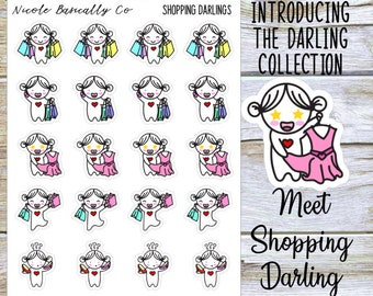 Shopping Darlings Planner Stickers