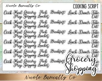 Cooking Script Planner Stickers