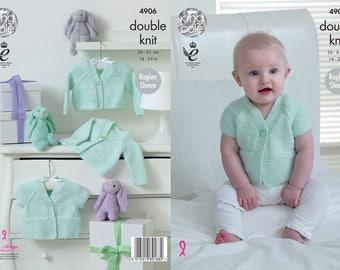 Baby Raglan Cardigans Knitting Pattern
