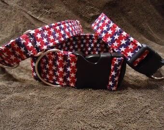 Stars and Stripes Fabric Dog Collar Fabric Dog Collar Fabric Adjustable Dog Collar