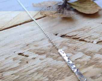 Handmade hammered ear threaders in recycled silver   silver ear threaders   eco-friendly jewellery.