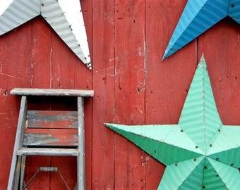 Ladder - Stars - Americana Workshop - York - Kennebunk - Maine - USA - Photo - Print