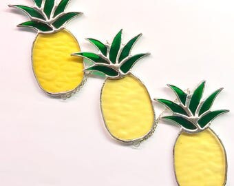 Handmade Pineapple Stained Glass Mobile Suncatcher