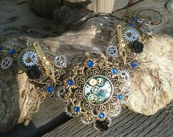 Steampunk Choker necklace the stop time