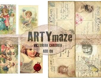 VICTORIAN CHILDREN Themed digital Journal  *instant download*