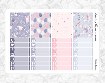 Easter Bunny Washi and Little Things   Stickers for your Erin Condren, Happy Planner, Kikki K, Filofax and more