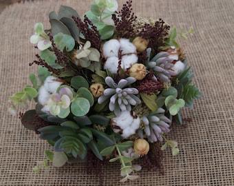 secado de ramo boda rstica bouquet natural flor artificial suculento bouquet rstico granja decoracin interior decoracin