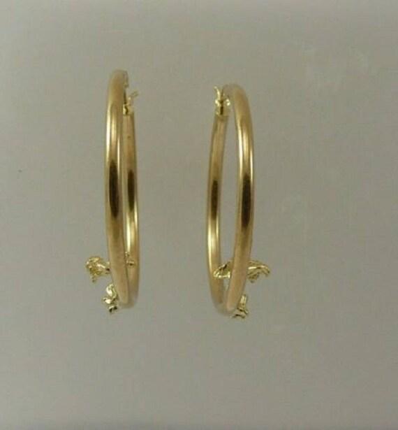 Hoop Angle Earring 14k Yellow Gold