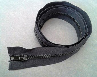 Black zipper closure 80cm separable plastic