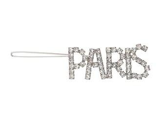 """Rhinestone """"PARIS"""" Barrette Hair Clip"""
