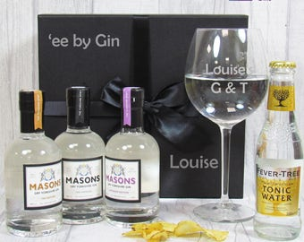 Masons Gin Gift Set, Craft Gin Set, Gin Taster Set, Personalised Gin Set