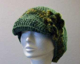 Green crochet Hat
