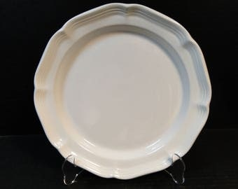 "Mikasa French Countryside Dinner Plate 10 7/8"" White F9000 EXCELLENT!"