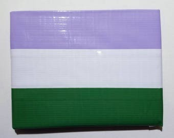 Genderqueer Pride Flag Duct Tape Wallet