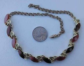Vintage two tone thermoset necklace