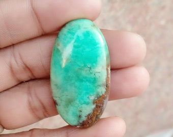 Warm sell 53ct Chrysoprase Natural Gemstone Super Quality AAA+++  Cabochon , Smooth, Oval Shape, 41x22x6mm Size, AM277