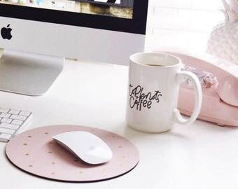 IMPERFECT - Top Knots + Coffee | 15 Oz. White Ceramic Mug | Winter | Coffee Lover | Caffeine | Gift |