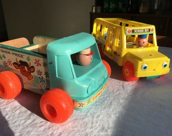 Set of Vintage Fisher Price Toys