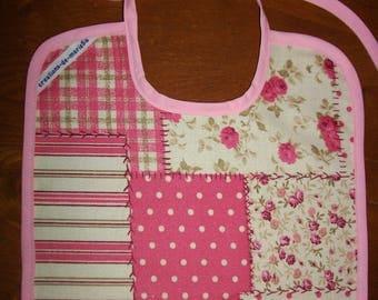 Baby bib / child 2-3 years - laminated cotton fabric patchwork patterns