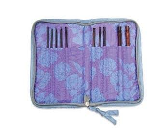 Lantern Moon Crochet Case Silk Compact Zip Crochet Hook Case Needle Case Zipper Knitting Needle Bag Lantern Moon Silk Compact Zip Case