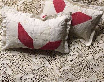 Red and White Quilted Pillow/ Quilted Posing Pillow/ Posing Pillow Prop