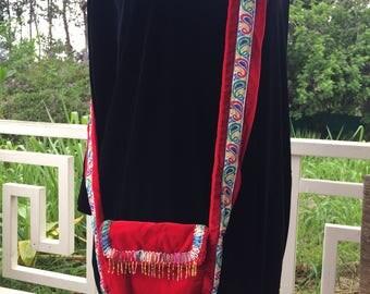 Recycle Velvet Handmade PEACE Bag