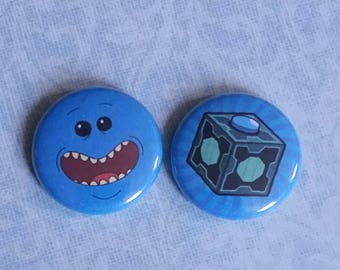 Mr. Meeseeks 2 Pack 1 Inch Pins