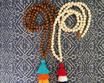 Tiered Tassel Necklace, Fringe Tassel Necklace, Tassel Stack Necklace