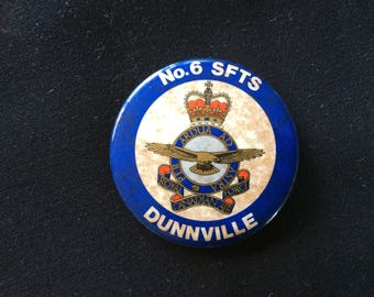 Royal Canadian Air Force Dunnville No. 6 SFTS Badge Button.