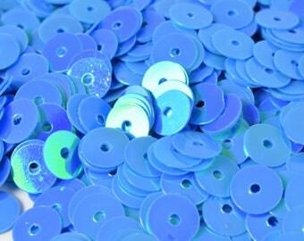 4/6mm Aqua  Blue  Iridescent Sequins Sheen Round Sequins/Loose Paillettes,Wholesale Sequins,Shimmering Sequin Apparel,Shoe Decor