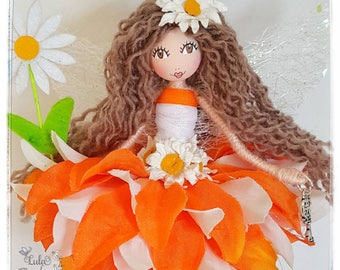 flower fairy - fairy - fairy gift - fairy doll - daisy flowers - keepsake - collectable - ooak doll - fairy decoration - ooak fairy - doll -