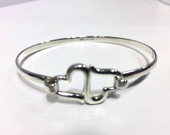 925 Sterling Silver Bangle/Georg Jensen Style/Ethical Solid Silver Jewelry Jewellery/Bridemaids Gifts/Mothers Day/Wedding Show/Free Shipping